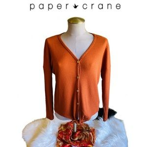 🌵  2/$15 PAPER CRANE Anthropologie Blouse-Rust